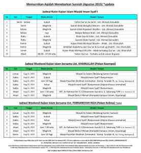 Jadwal Agt 2015 update