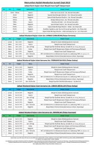 jadwal pekanan bulan Sept 2015